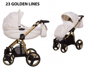 BabyActive Mommy Gold Magic Wózek 2w1 głęboko-spacerowy 2020