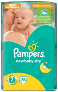 Pampers  2 new baby - dry 2018