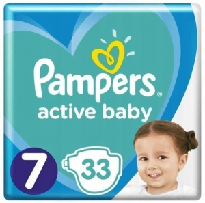 Pieluchy Pampers active baby rozmiar  7 (33 szt) 2021