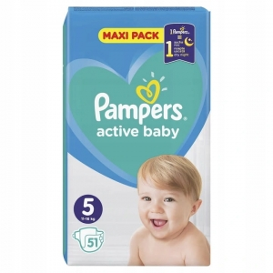 Pieluchy Pampers active baby rozmiar  5 (51 szt) 2021