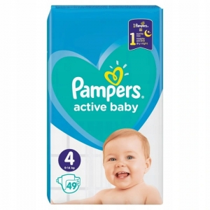 Pieluchy Pampers active baby rozmiar  4 (49 szt) 2021
